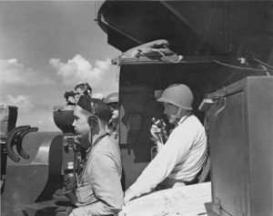 Gunnery personnel aboard the USS New Mexico, 1942-45? US Navy photograph, courtesy of the Palace of the Governors Photo Archives.