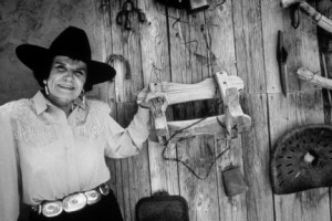 Evelyn Fite Tune, a longtime rancher outside Socorro, NM. Photo by Ann Bromberg, courtesy Palace of the Governors Photo Archives.