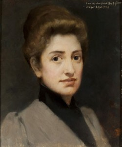 An 1893 portrait of Mary Jane Colter by Arthur Mathews,  one of her professors. Photo by Tom Alexander, courtesy of the Pioneer Museum, Flagstaff, and the Arizona Historical Society.