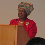 "Doris Fields at the opening for ""African American Legacy"""
