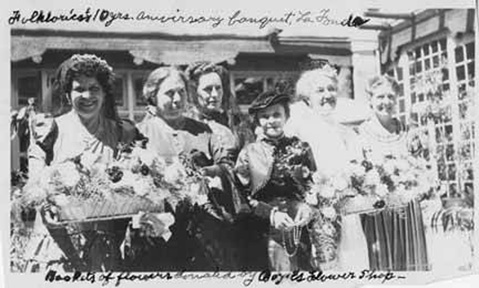 Fabiola Cabeza de Baca (far left) with the Sociedad Folklorica in 1945. Courtesy Palace of the Governors Photo Archives. (nmhistorymuseum.org/blog)