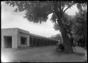 The Palace of the Governors, ca. 1915, by Jesse Nusbaum. Palace of the Governors Photo Archives 013045.
