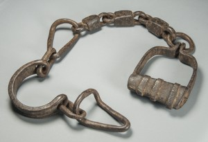 Shackles  Mexico, 17th century Private Collection  Photo by Jorge Pérez de Lara These Shackles are from the inquisition prison in Mexico City.