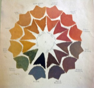 Artist Gustave Baumann created this autumn-toned color wheel in 1930.