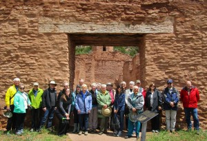 Members of the Palace Guard pose for a picture during their 2015 visit to Jemez Historic Site.
